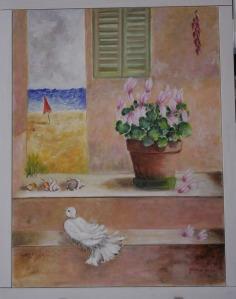 colomba e ciclamini