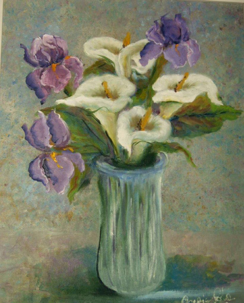 Iris lisboantigua for Fiori dipinti ad olio