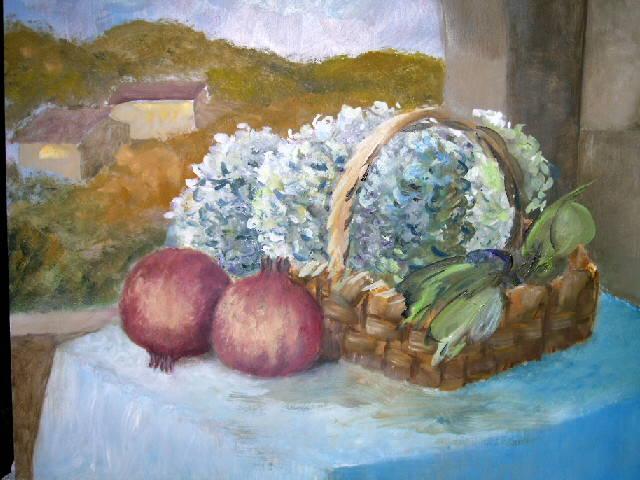 Quadri Con Ortensie : Fiori dipinti lisboantigua