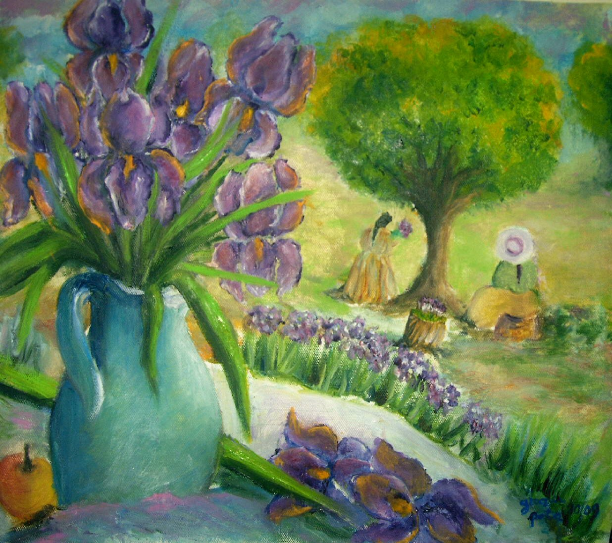 Fiori dipinti lisboantigua for Fiori dipinti a olio