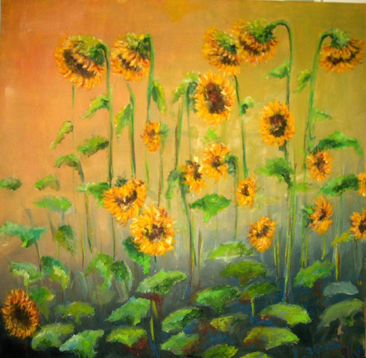 Girasoli dipinti lisboantigua for Quadri fiori stilizzati