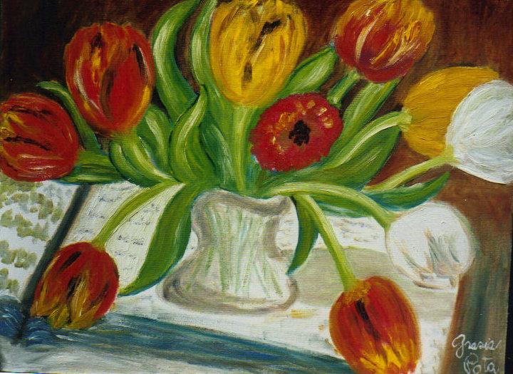 Fiori dipinti lisboantigua for Vasi di fiori dipinti